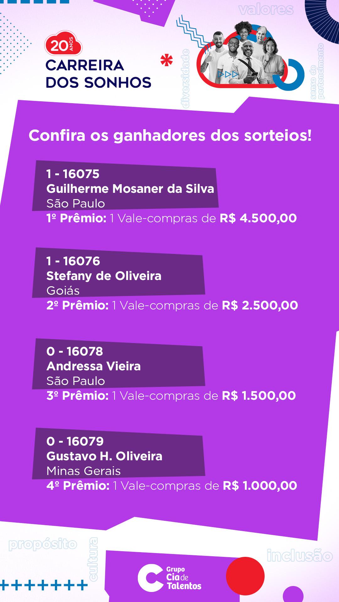 Banner Carreira dos Sonhos 2021